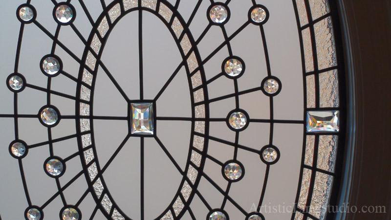 decorative glass windows traditional bathroom.htm traditional beveled leaded glass oval window with clear jewels  leaded glass oval window with clear jewels